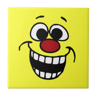 Awesome Smiley Face Grumpey Ceramic Tile