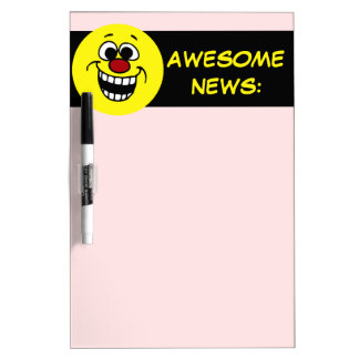Awesome Smiley Face Grumpey Dry-Erase Board