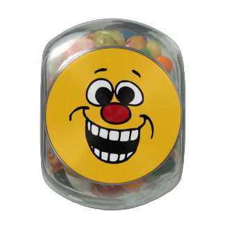 Awesome Smiley Face Grumpey Glass Jars