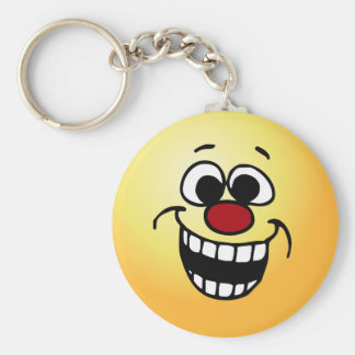 Awesome Smiley Face Grumpey Keychain