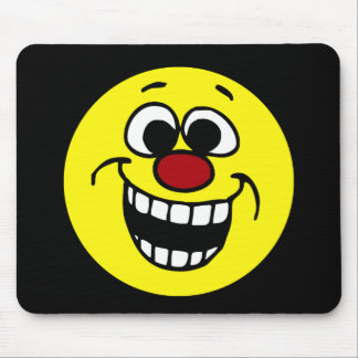Awesome Smiley Face Grumpey Mouse Pad