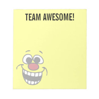 Awesome Smiley Face Grumpey Notepad