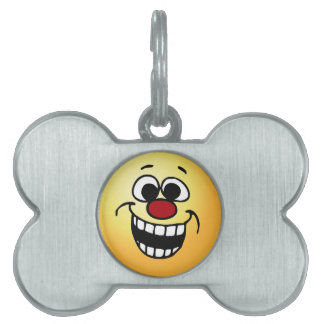 Awesome Smiley Face Grumpey Pet Name Tag