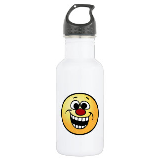 Awesome Smiley Face Grumpey 18oz Water Bottle