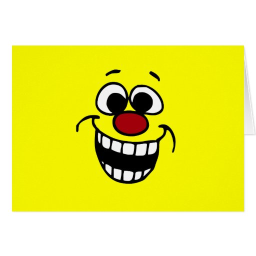 Awesome Smiley Face Grumpey Stationery Note Card