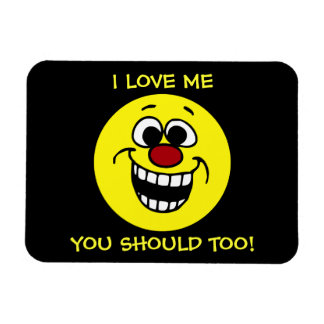 Awesome Smiley Face Grumpey Vinyl Magnet