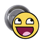 Awesome Smiley Face Pinback Buttons