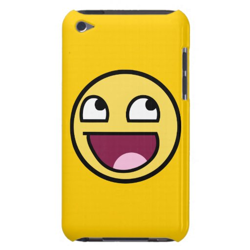 awesome smiley face rage f7u12 funny meme iPod touch case