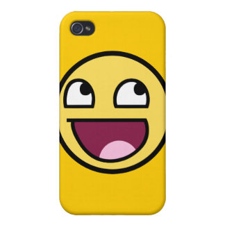 awesome smiley face rage f7u12 funny meme iPhone 4 case