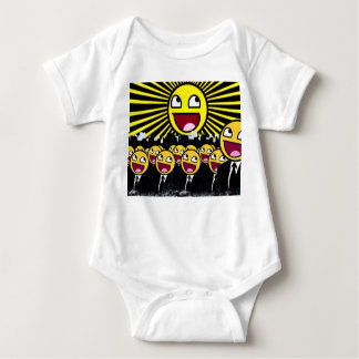 Awesome Smiley Faces Yellow Emoticon Baby Bodysuit