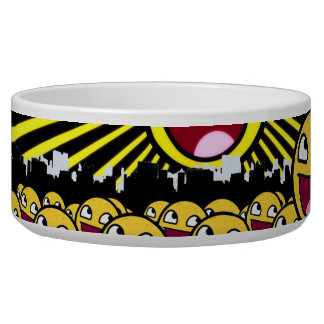 Awesome Smiley Faces Yellow Emoticon Bowl
