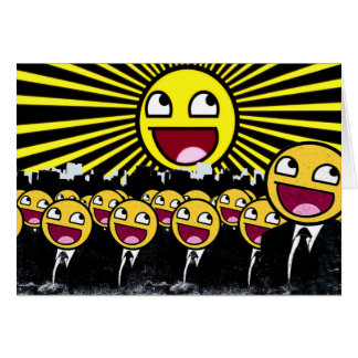 Awesome Smiley Faces Yellow Emoticon Card