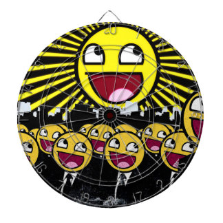Awesome Smiley Faces Yellow Emoticon Dart Boards