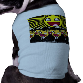 Awesome Smiley Faces Yellow Emoticon Dog T-shirt