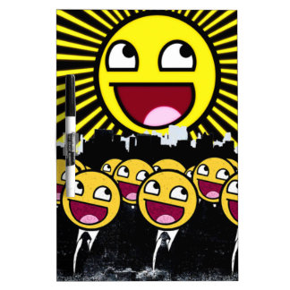 Awesome Smiley Faces Yellow Emoticon Dry-Erase Board