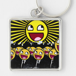 Awesome Smiley Faces Yellow Emoticon Keychain