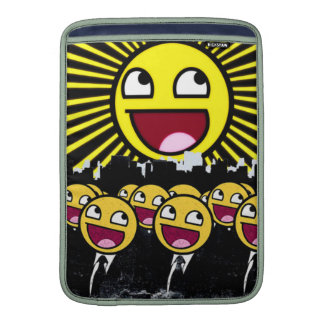 Awesome Smiley Faces Yellow Emoticon MacBook Sleeve