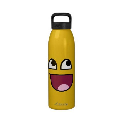 Water Bottle Neck Meme: Awesome Smiley Funny Internet Meme For Teen SIGG Traveler