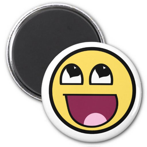Awesome Smiley heart eyes 2 Inch Round Magnet