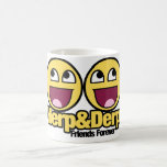 Awesome Smiley Herp and Derp Classic White Coffee Mug