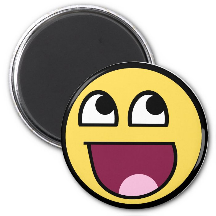 Awesome Smiley Internet Meme 2 Inch Round Magnet