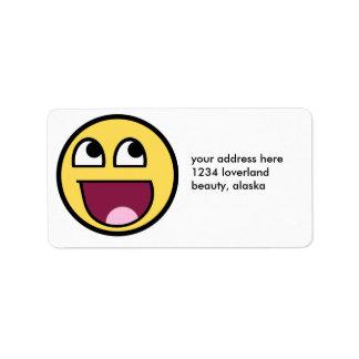 Awesome Smiley Internet Meme Label