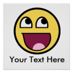 Awesome Smiley Internet Meme Poster
