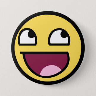 Awesome Smiley Pinback Button