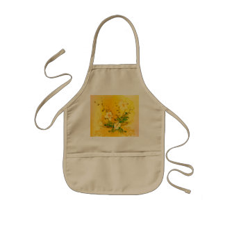 Awesome soft yellow flowers kids' apron