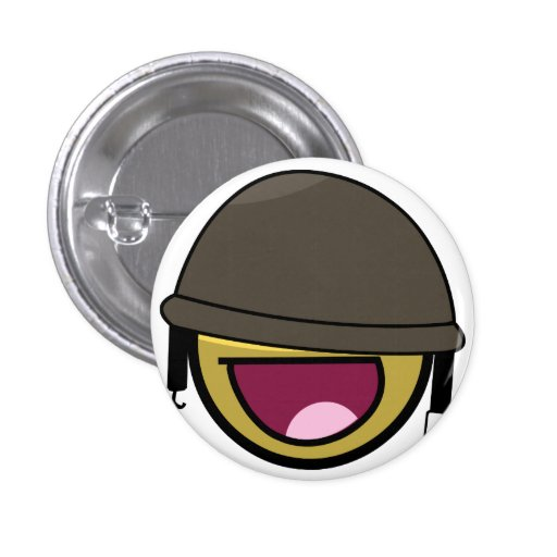 AWESOME SOLDIER PINBACK BUTTON
