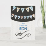 """Awesome Son Happy Birthday Card<br><div class=""""desc"""">Happy Birthday card for an awesome son with watercolor happy birthday banner.</div>"""