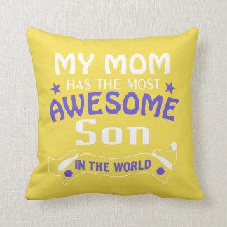 Awesome Son Throw Pillow