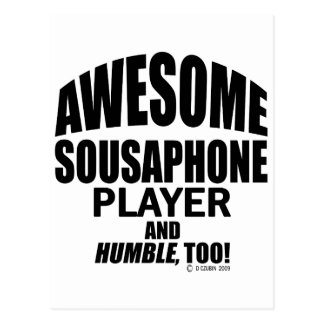 Awesome Sousaphone Player Postcard