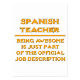 Awesome Spanish Teacher .. Job Description Postcard