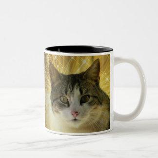 Awesome Sparkling Kitty Mug! Two-Tone Coffee Mug