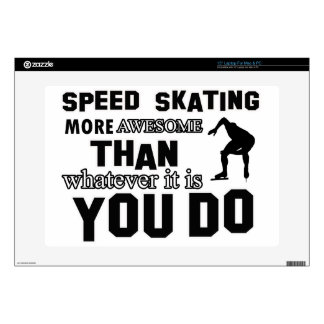 Awesome Speed Skating Design Laptop Decal