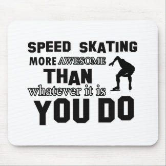 Awesome Speed Skating Design Mouse Pad