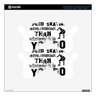 Awesome Speed Skating Design PS3 Controller Skin