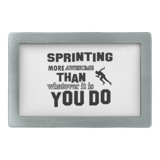 Awesome Sprinting Design Rectangular Belt Buckle