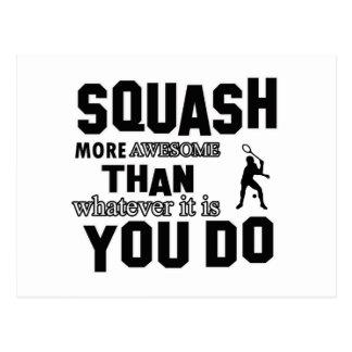 Awesome Squash Design Postcard