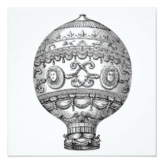 Awesome steampunk balloon vector designs card