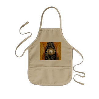 Awesome steampunk design with clocks and gears kids' apron