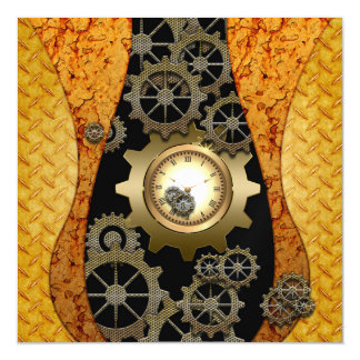 Awesome steampunk design with clocks and gears magnetic card