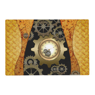 Awesome steampunk design with clocks and gears placemat