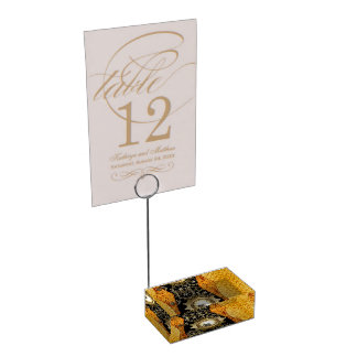 Awesome steampunk design with clocks place card holder