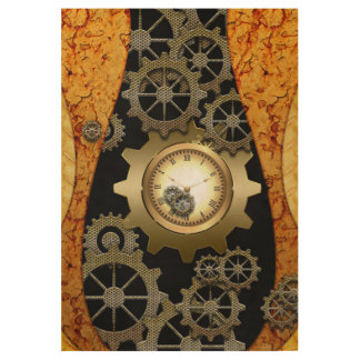 Awesome steampunk design wood poster