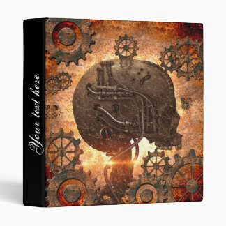 Awesome steampunk Skull 3 Ring Binder