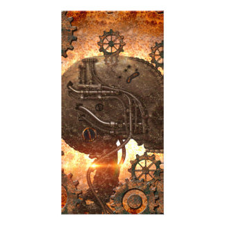 Awesome steampunk Skull Card