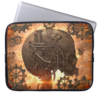 Awesome steampunk Skull Laptop Sleeve