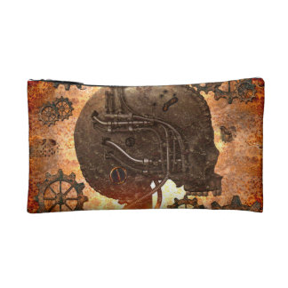 Awesome steampunk Skull Makeup Bag